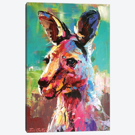 Kangaroo Canvas Print #JCF147} by Jos Coufreur Canvas Print