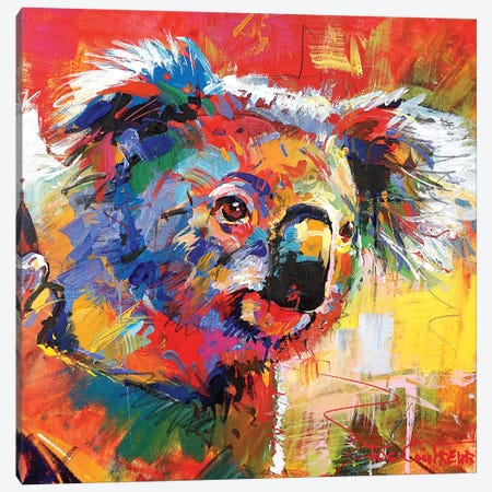 Koala XI 3-Piece Canvas #JCF151} by Jos Coufreur Art Print