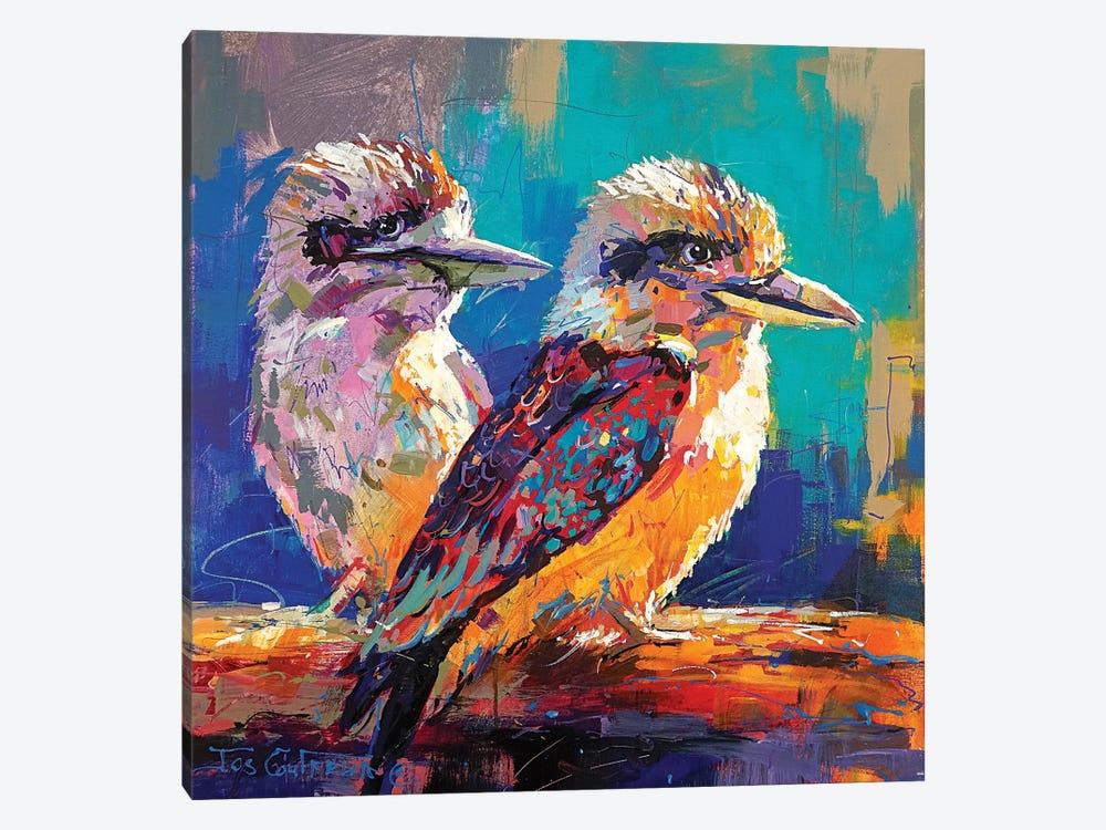 Pair Of Kookaburras by Jos Coufreur 1-piece Art Print