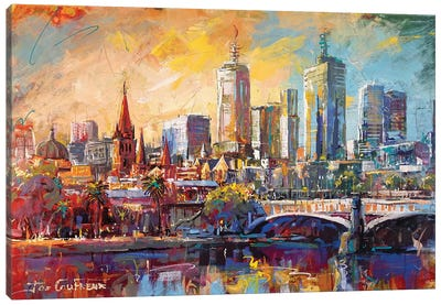 Melbourne, Australia Canvas Art Print