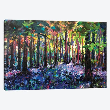 Forest Wildflowers Canvas Print #JCF173} by Jos Coufreur Art Print