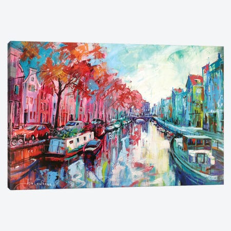 Amsterdam Canvas Print #JCF1} by Jos Coufreur Canvas Wall Art