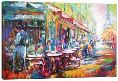 French Cafe Canvas Art Print