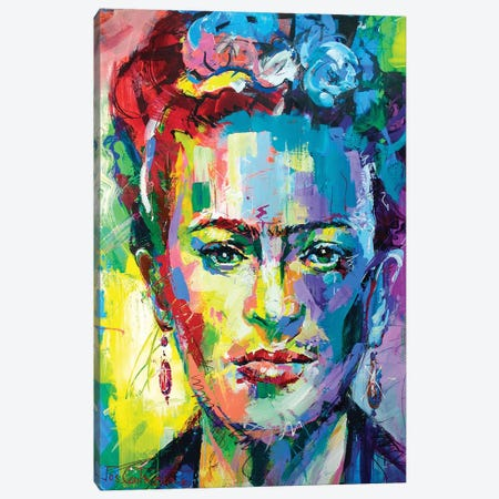 Frida Kahlo Canvas Print #JCF30} by Jos Coufreur Canvas Print