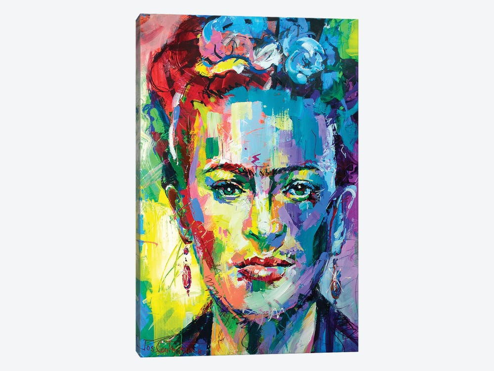 Frida Kahlo by Jos Coufreur 1-piece Canvas Art