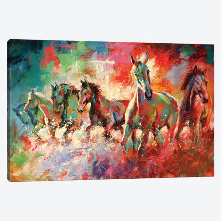 Horses Canvas Print #JCF32} by Jos Coufreur Canvas Print
