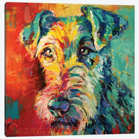 Irish Terrier Canvas Print #JCF33} by Jos Coufreur Canvas Print