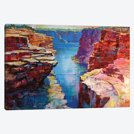 King George River Canvas Print #JCF36} by Jos Coufreur Canvas Wall Art