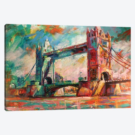 London Bridge Canvas Print #JCF49} by Jos Coufreur Canvas Artwork