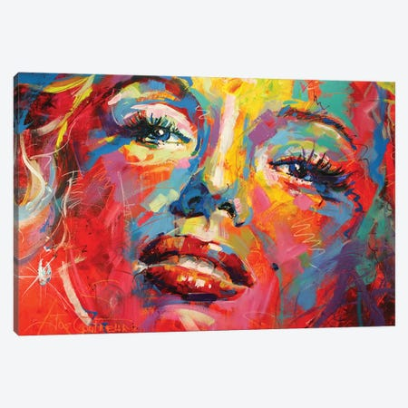 Marilyn Monroe III Canvas Print #JCF54} by Jos Coufreur Canvas Wall Art