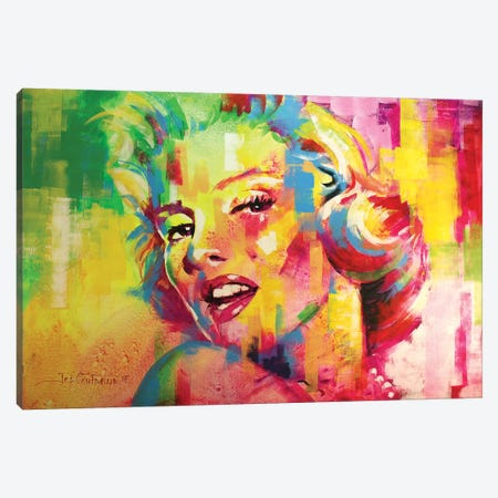 Marilyn Monroe IV Canvas Print #JCF55} by Jos Coufreur Canvas Artwork