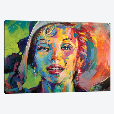 Marilyn Monroe IX Canvas Print #JCF60} by Jos Coufreur Canvas Wall Art