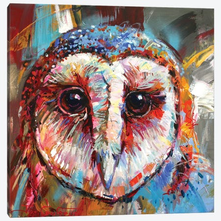 Masked Owl Canvas Print #JCF61} by Jos Coufreur Canvas Wall Art