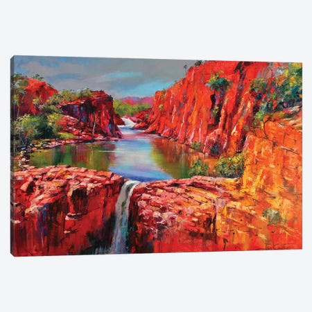 Mitchell Falls Canvas Print #JCF62} by Jos Coufreur Canvas Artwork