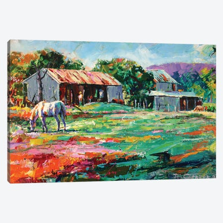 Old Sheds 3-Piece Canvas #JCF67} by Jos Coufreur Canvas Print