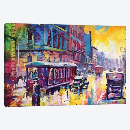 St Georges Terrace 1926 Canvas Print #JCF76} by Jos Coufreur Canvas Art