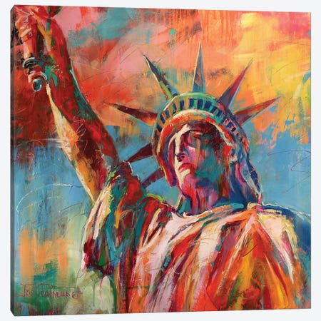 Statue Of Liberty Canvas Print #JCF78} by Jos Coufreur Art Print