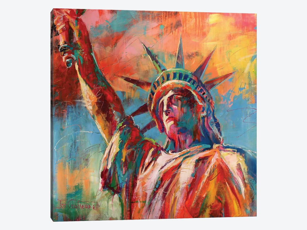 Statue Of Liberty by Jos Coufreur 1-piece Canvas Artwork