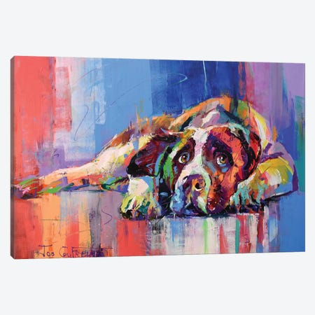 Dog Canvas Print #JCF97} by Jos Coufreur Canvas Artwork