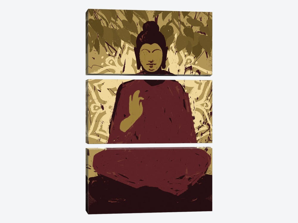 Under the Bodhi Tree I by Jacob Green 3-piece Canvas Print