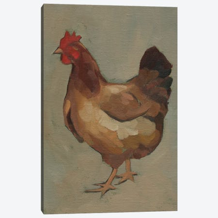 Egg Hen II Canvas Print #JCG133} by Jacob Green Canvas Art