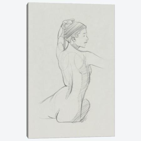 Female Back Sketch II Canvas Print #JCG176} by Jacob Green Art Print