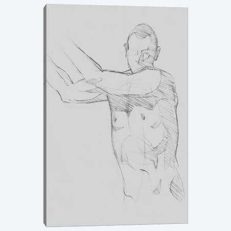 Male Torso Sketch III Canvas Print #JCG191} by Jacob Green Canvas Art