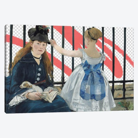 Masked Masters (Waiting At the Station) Canvas Print #JCG198} by Jacob Green Canvas Art