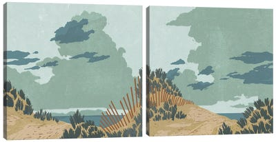 Hidden Dune Diptych Canvas Art Print
