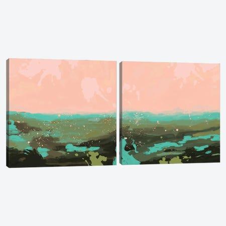 Neon Expanse Diptych Canvas Print Set #JCG2HSET002} by Jacob Green Canvas Art Print