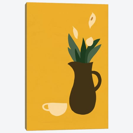 Mod Peace Lily I Canvas Print #JCG46} by Jacob Green Canvas Artwork