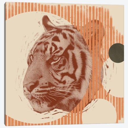Pop Art Tiger II 3-Piece Canvas #JCG61} by Jacob Green Canvas Print