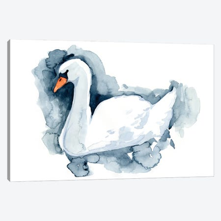 Silverlake Swan II Canvas Print #JCG65} by Jacob Green Canvas Artwork