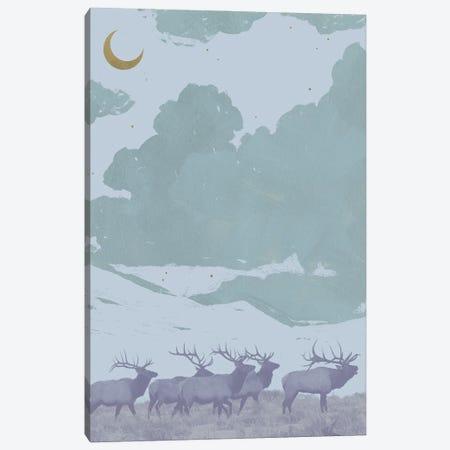 Pop Art Elk I Canvas Print #JCG88} by Jacob Green Art Print
