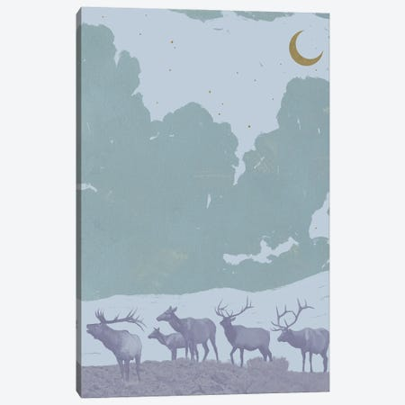 Pop Art Elk II Canvas Print #JCG89} by Jacob Green Art Print
