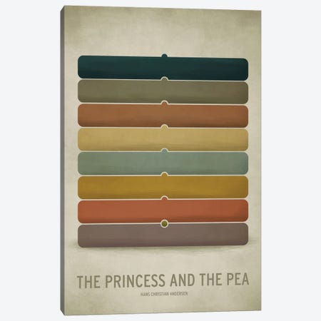 The Princess And The Pea Canvas Print #JCK9} by Christian Jackson Art Print