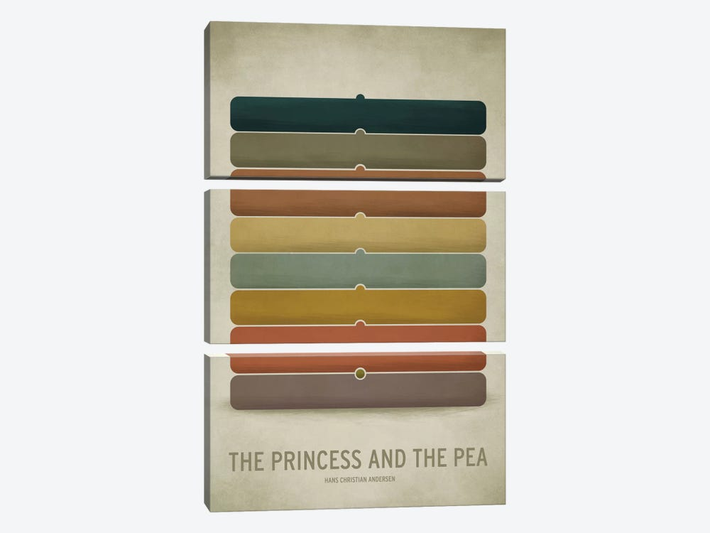 The Princess And The Pea by Christian Jackson 3-piece Canvas Wall Art