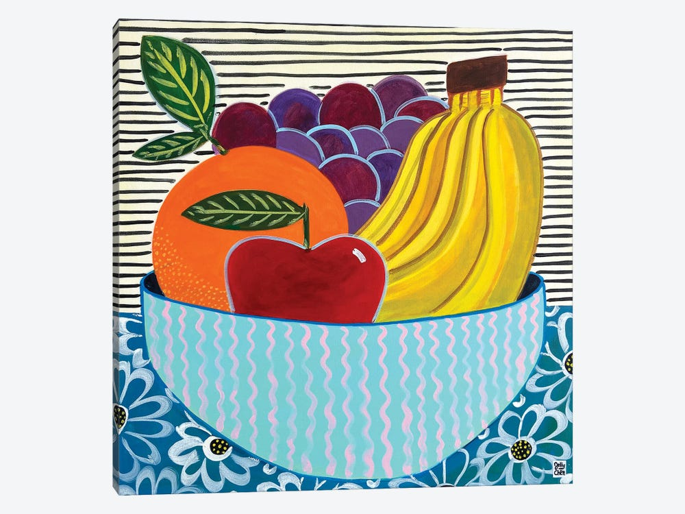 Fruit Bowl by Jelly Chen 1-piece Canvas Art