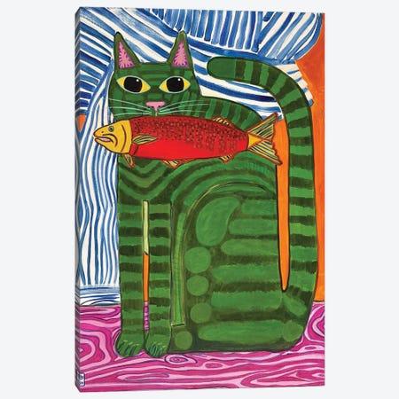 Good Catch Canvas Print #JCN13} by Jelly Chen Art Print