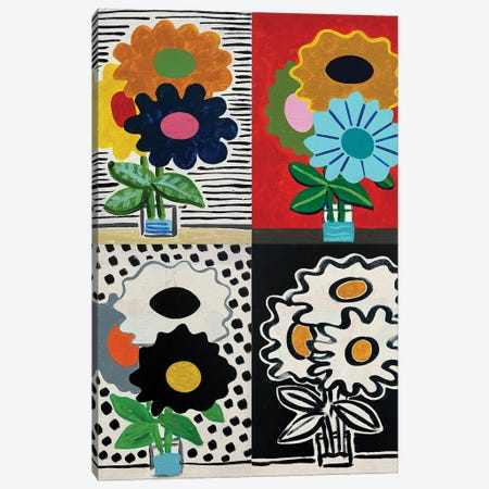 Four Seasons Flowers Canvas Print #JCN15} by Jelly Chen Canvas Artwork
