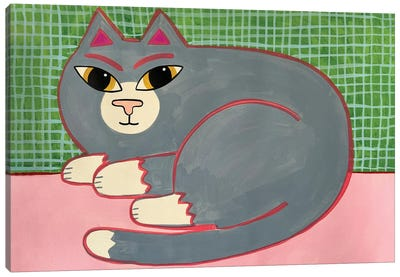 Grey Cat Canvas Art Print
