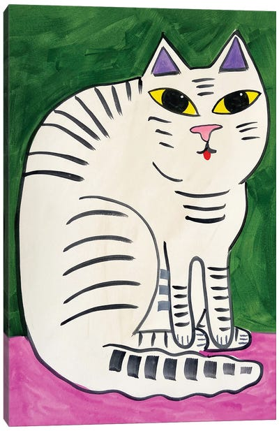 Striped Cat Canvas Art Print