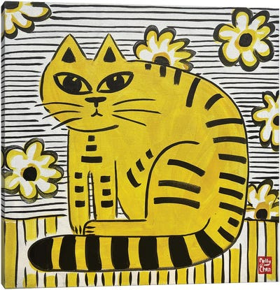 Yellow Cat Canvas Art Print