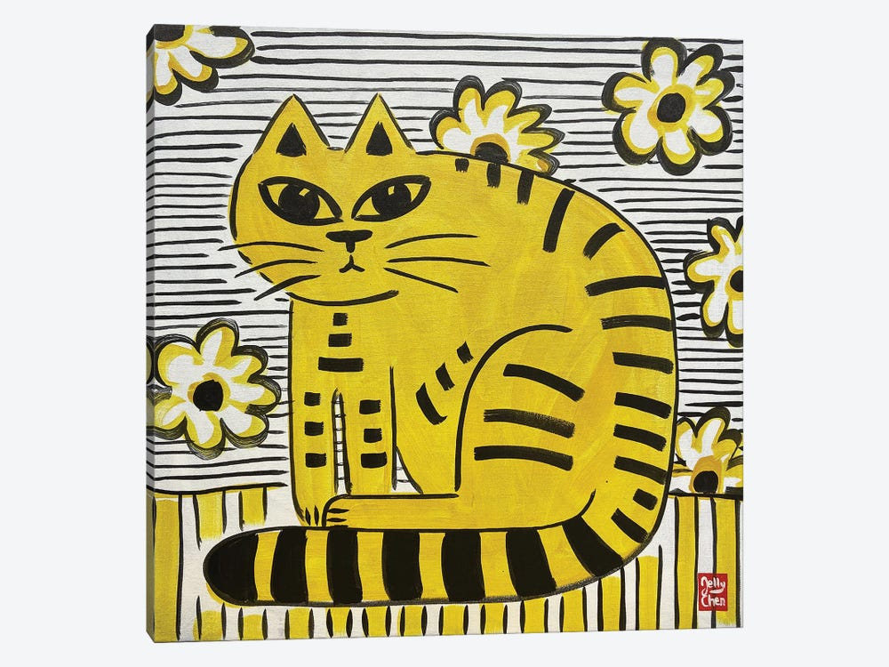 Yellow Cat by Jelly Chen 1-piece Art Print
