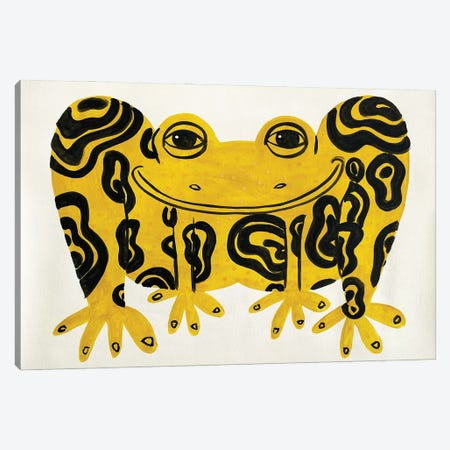 Yellow Frog Canvas Print #JCN39} by Jelly Chen Art Print