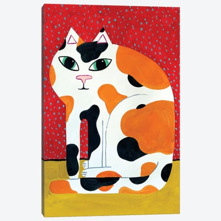 Calico Canvas Print #JCN5} by Jelly Chen Art Print