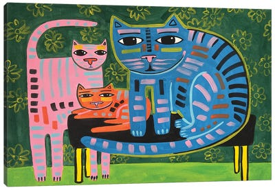 Cat Family Canvas Art Print
