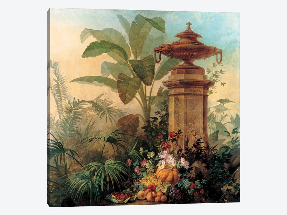 Flowers And Tropical Plants by Jean Capeinick 1-piece Art Print
