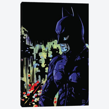 Dark Knight Canvas Print #JCR107} by Giuseppe Cristiano Canvas Art Print