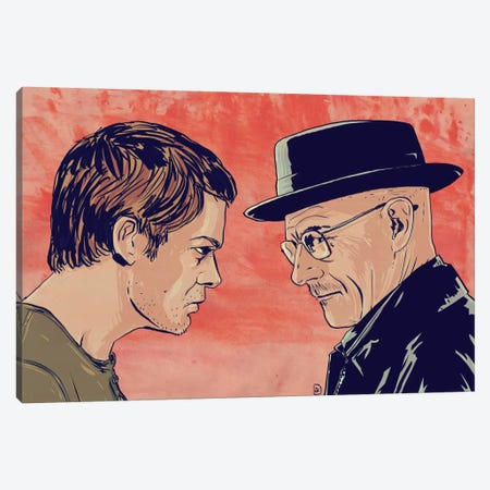 Dexter & Morgan Canvas Print #JCR10} by Giuseppe Cristiano Canvas Print